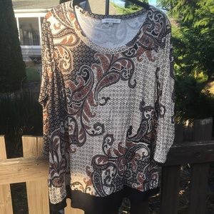 Rose & Olive Blouse Top Tunic